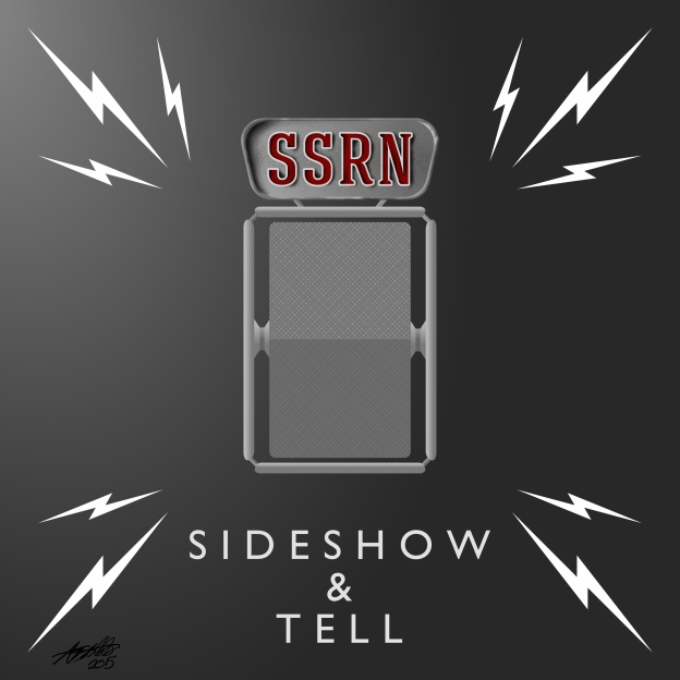 Sideshow Sound Radio Sideshow and Tell Title Card Artwork for our Film Music Podcast