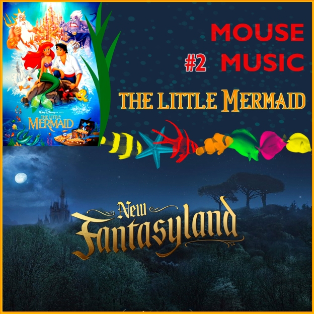 The Little Mermaid Artwork for our Disney Music Podcast