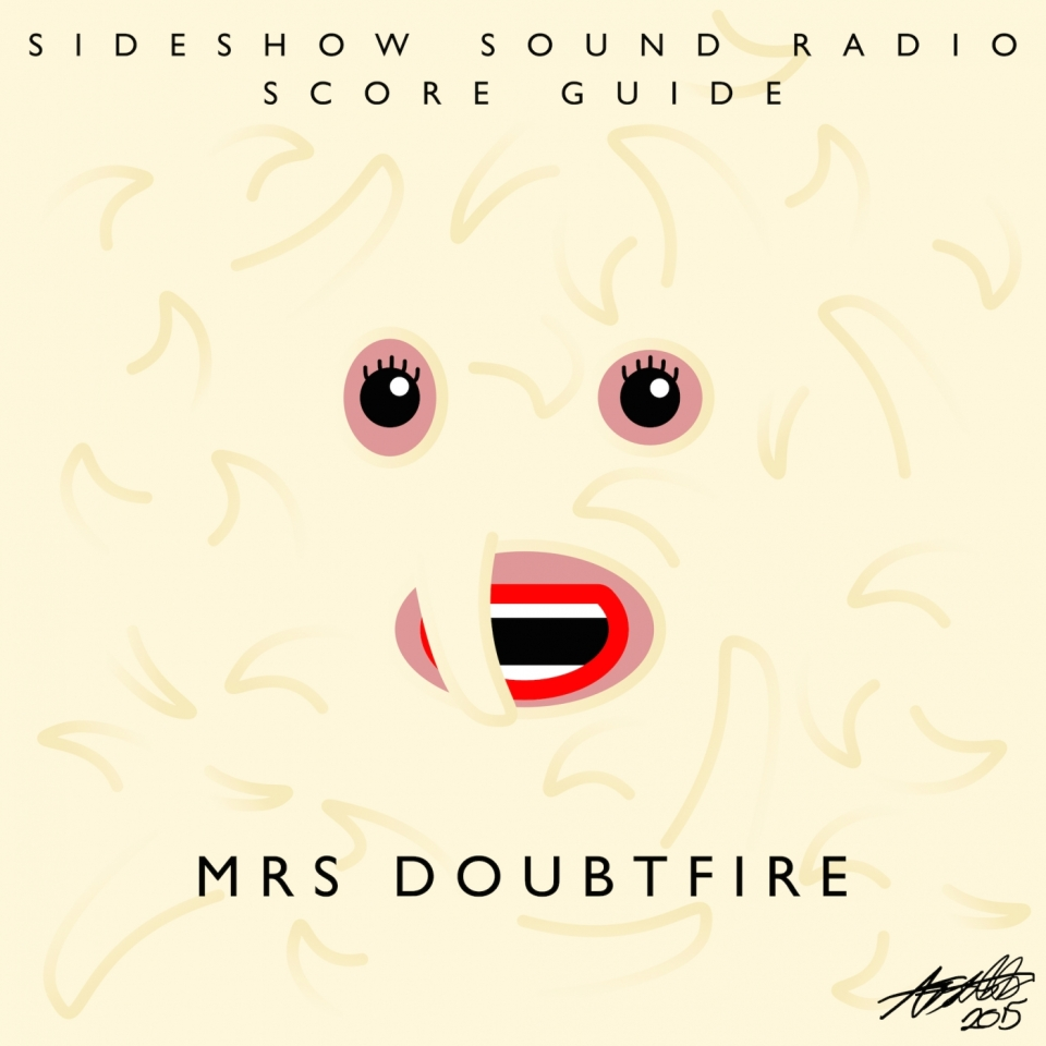 Mrs. Doubtfire Artwork for our Film Soundtrack Podcast