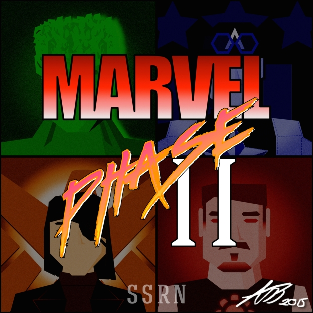 The Marvel Cinematic Universe Phase 2 Artwork for our Film Soundtrack Podcast