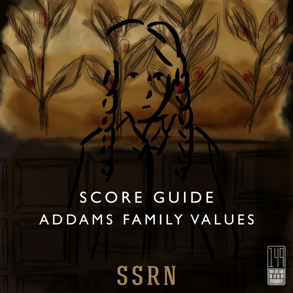 Addams Family Values Artwork for our Film Soundtrack Podcast