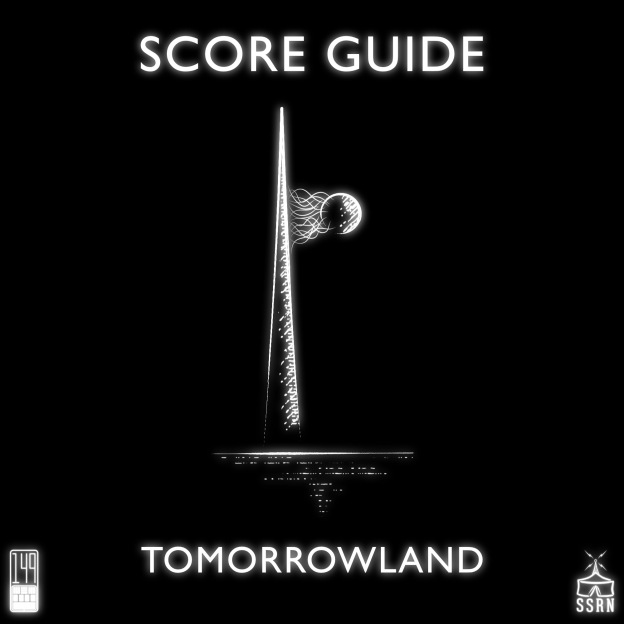 Tomorrowland Artwork for our Film Soundtrack Podcast